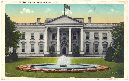 DISTRICT of COLUMBIA Washington - White House - 1920s 1920 White House