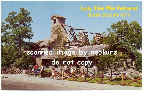 MISSOURI Branson - Silver Dollar City - Lucky Silver Mine Restaurant - 1960s
