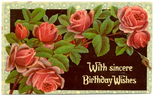 BIRTHDAY With Sincere Birthday Wishes Red Roses