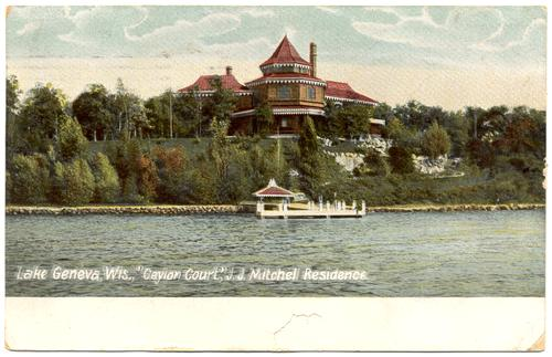 Lake Geneva (WI) United States  city images : WISCONSIN Lake Geneva Ceylon Court J J Mitchell Residence circa ...
