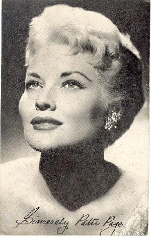 Patti Page on Arcade   Celebrity   Patti Page 1950s Television And Music Entertainer