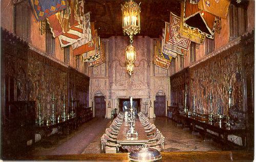 California San Simeon Hearst Castle Refectory Dining Hall