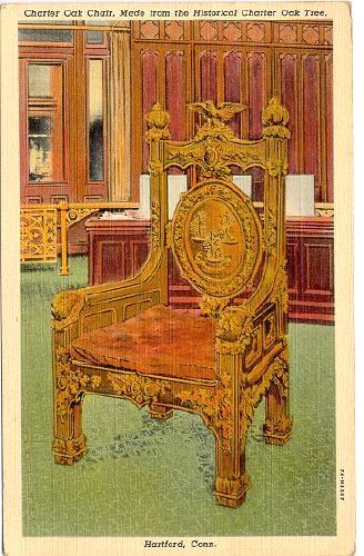 The Hartford Insurance Address >> CONNECTICUT Hartford - Charter Oak Chair 1937