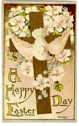 happy easter day image. A Happy Easter Day - Gold