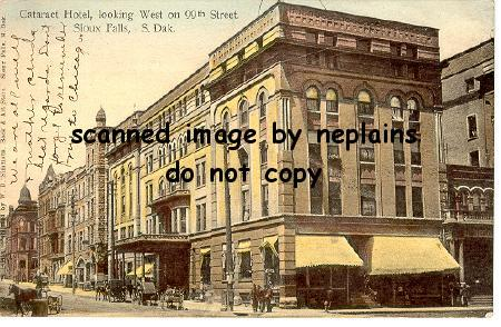 South dakota sioux falls cataract hotel 1908 for Craft stores in sioux city iowa