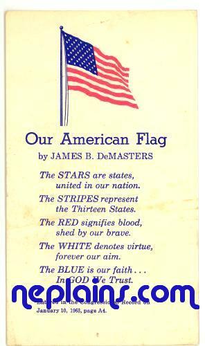 Patriotic - Our American Flag poem by James B DeMasters