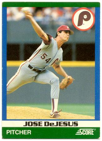 Baseball Card Jose De Jesus Philadelphia Phillies Pitcher