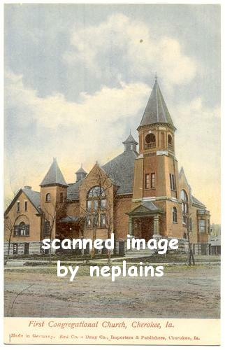 IOWA Cherokee - First Congregational Church c1910