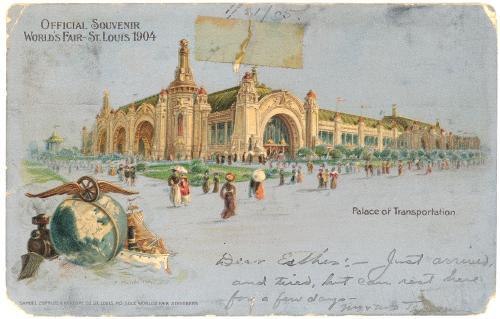 1904 St Louis Worlds Fair Transportation Palace Silver
